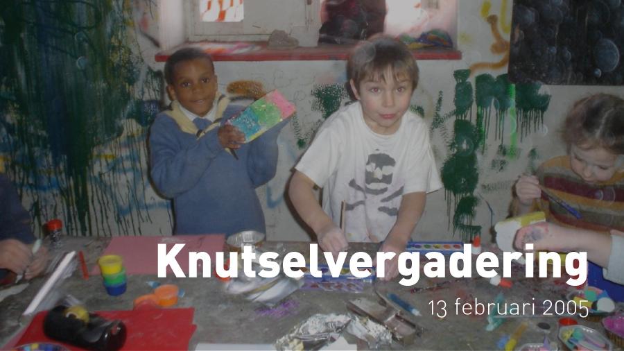 Knutselvergadering van de Kapoenen (13 februari 2005)