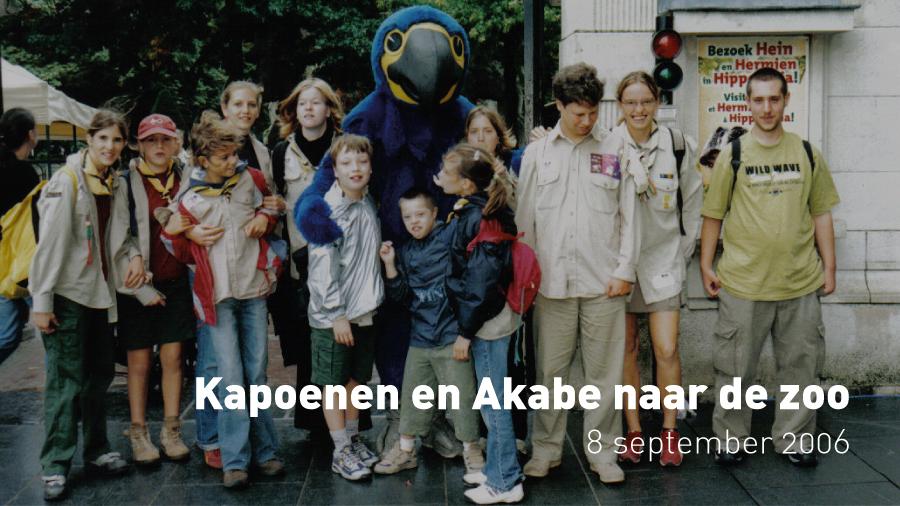Kapoenen en Akabe naar de zoo (8 september 2006)