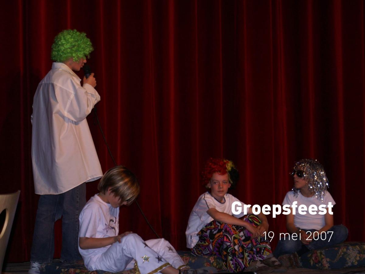 Groepsfeest (19 mei 2007)