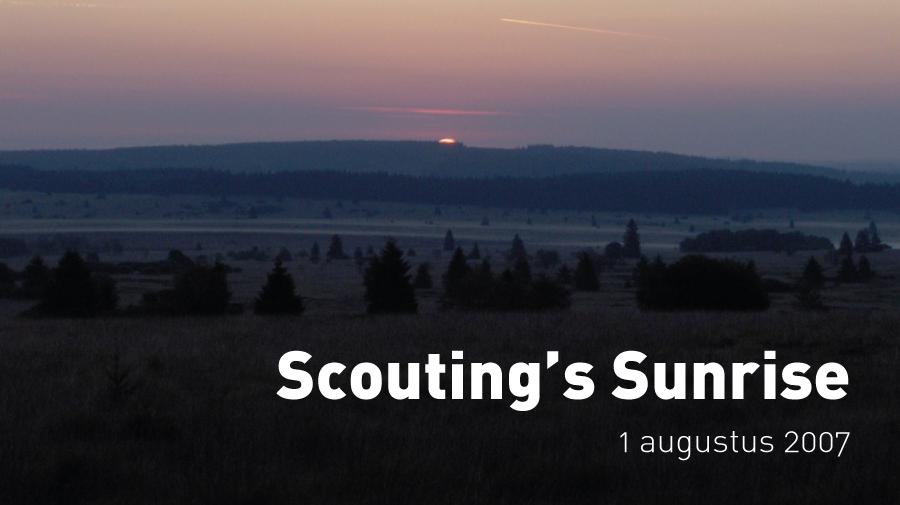Scouting's Sunrise (1 augustus 2007)