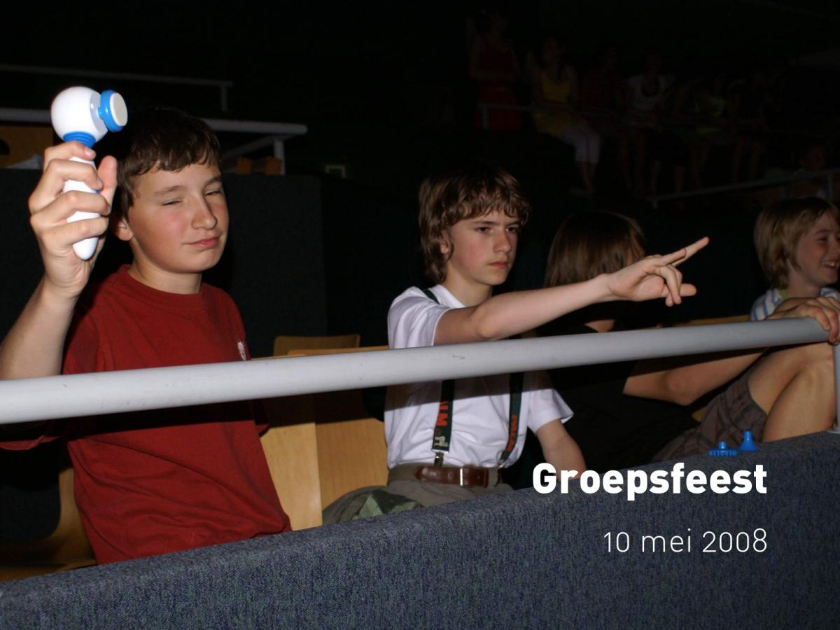 Groepsfeest (10 mei 2008)