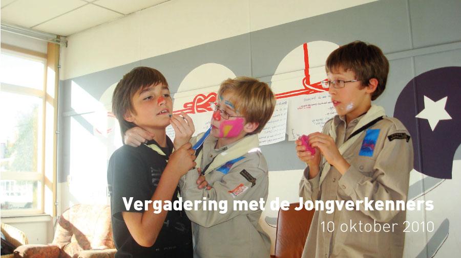 Vergadering met de Jongverkenners (10 oktober 2010)