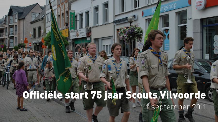 Officiële start 75 jaar Scouts en Gidsen Vilvoorde