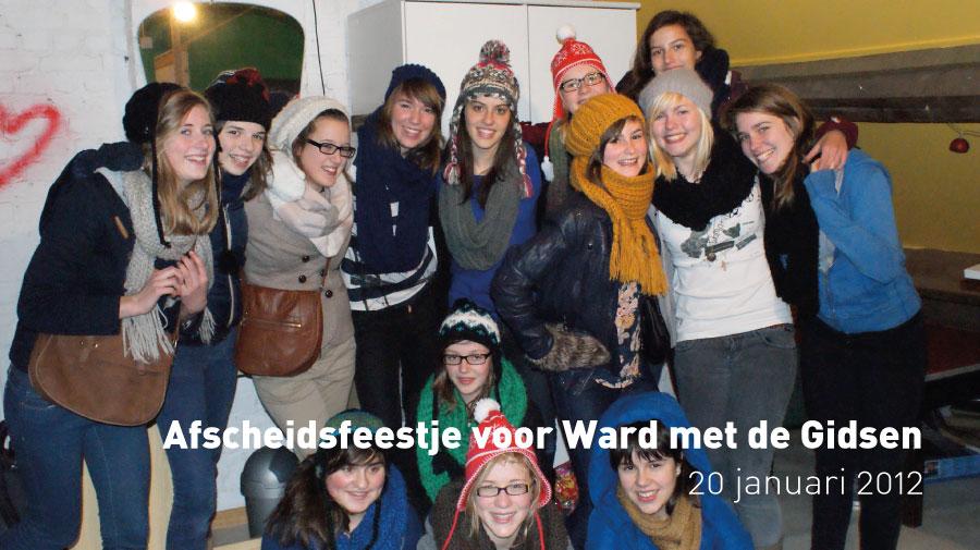 Afscheidsfeestje voor Ward met de Gidsen (20 januari 2012)