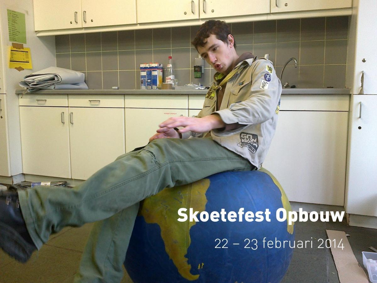 Skoetefest Opbouw (22 - 23 februari 2014)