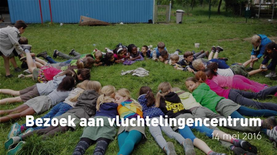 Bezoek aan vluchtelingencentrum met de Harlekijnen en de Welpen (22 mei 2016)