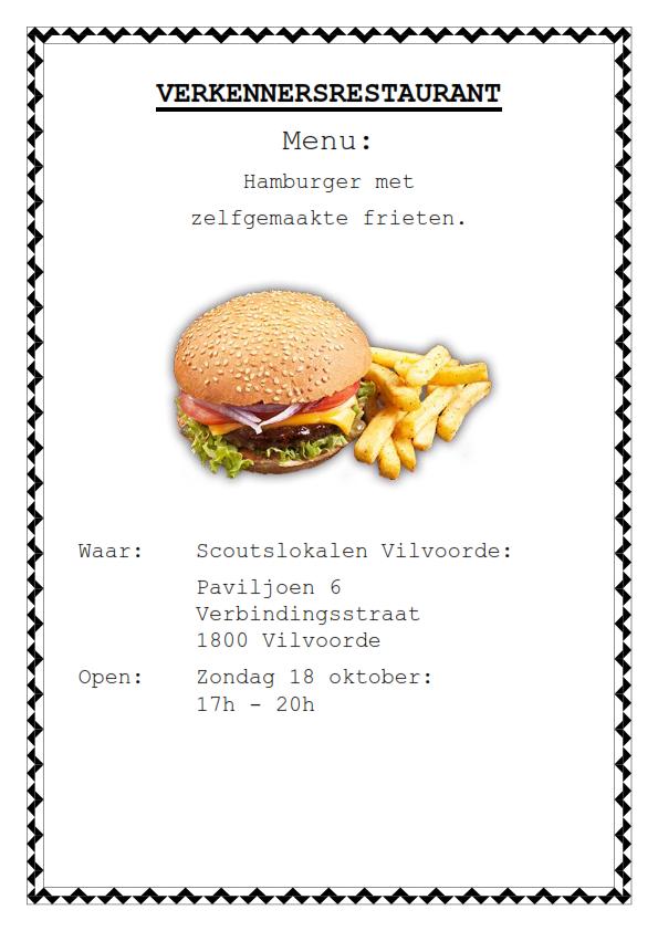 Affiche verkennersrestaurant